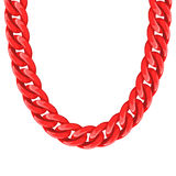Chunky chain plastic red necklace or bracelet Stock Photo