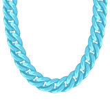Chunky chain plastic turquoise necklace or Royalty Free Stock Photography