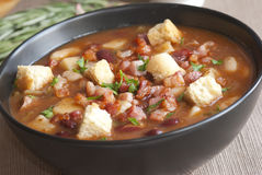 Chunky chilli meal soup Royalty Free Stock Photography