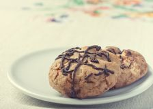Chunky Chocolate Chip Cookie Royalty Free Stock Photos