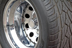 Chunky custom tyre wheel Royalty Free Stock Images