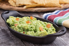 Chunky Homemade Guacamole Stock Images