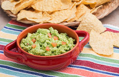 Chunky Homemade Guacamole Royalty Free Stock Images