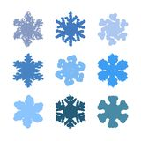 Chunky Marker Snowflakes Set libre illustration