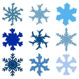 Chunky Marker Snowflakes Set-03 libre illustration