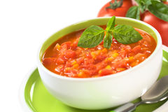 Chunky Tomato Soup Royalty Free Stock Photography
