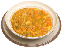 Chunky Vegetable Soup Isolated Stock Images