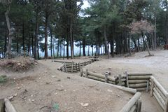Chunuk Bair公墓 免版税图库摄影