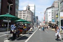Chuo-Dori на токио Японии Ginza Стоковые Изображения RF