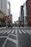 Chuo-Dori на токио Японии Ginza Стоковое Изображение RF