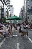 Chuo-Dori на токио Японии Ginza Стоковое фото RF