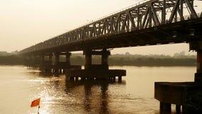 Chuong Duong most w Hanoi Na zmierzchu Wietnam Obraz Stock