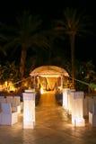 Chuppa sur le mariage juif. Image stock