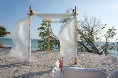 Chuppa for Wedding on the beach. A canopy arbor (chuppa) on the beach for a wedding ceremony Stock Images