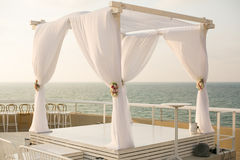 Chuppah еврейской свадьбы Стоковые Изображения