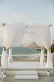 Chuppah för judiskt bröllop Royaltyfria Foton