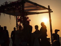 Chuppah Silhouette in Israel Stock Image