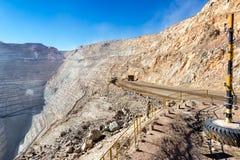 Chuquicamata-Bergwerk Stockbild
