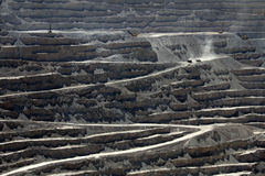 Chuquicamata, più grande miniera di rame della trincea a cielo aperto del mondo, Cile Immagine Stock