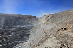 Chuquicamata, world's biggest open pit copper mine, Chile royalty free stock images