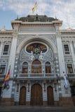Chuquisaca urzędu gubernatora pałac przy placu 25 de Mayo kwadratem w Sucre Fotografia Royalty Free