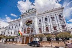 Chuquisaca urzędu gubernatora pałac w Sucre, Boliwia Fotografia Royalty Free