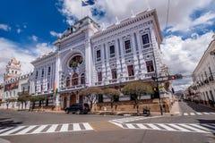 Chuquisaca urzędu gubernatora pałac w Sucre, Boliwia Zdjęcia Stock
