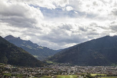 Chur in Grisons. View of Chur, which is the capital of the canton Grisons is considered as the oldest city in Switzerland Stock Images