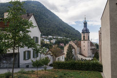 Chur , vineyards and Alps mountains, Switzerland Royalty Free Stock Images