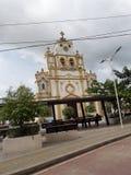 Churc central Santa Cruz de Lorica foto de stock
