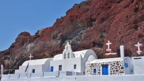 Churc típico em Santorini, Grécia fotografia de stock royalty free