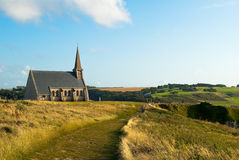 Church in Étretat, France Royalty Free Stock Photography