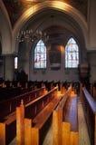 Church 01. Interior of church royalty free stock image
