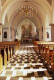Church 02. Interior of church Royalty Free Stock Photography