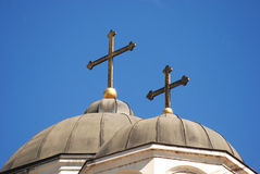 Church 10. Cross on Christian orthodox church Stock Image