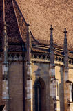 Church. Detail of a gothic church. Shot at sunset Royalty Free Stock Photo