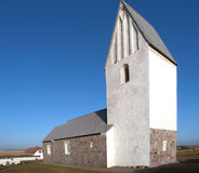 Church. Typical danish Church in rough climate near the ocean Stock Photo