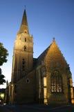 Church. French church at dawn Stock Photo