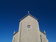 Church. A church building under the blue sky royalty free stock images