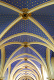 Church. Indoor image of the church roof, St. Francis of Assisi church, Zagreb, Croatia Stock Photos