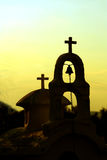 Church. On a yellow background Stock Images