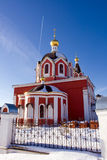 Church. Orthodox temple under the winter sky Stock Image
