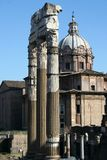 Church. Rome-the ruins of antic city Stock Images