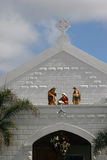 Church. Top of a church in Grand cayman with nativity scene Royalty Free Stock Photography