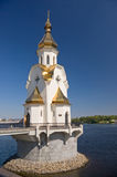 Church. Orthodox Church on the water, Kiev, Ukraine Stock Photo
