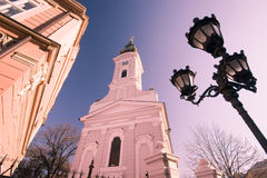 Church. Elevation of the Christian Church Royalty Free Stock Photography