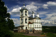 Church. An orthodox church is in a small town Vereya. Central Russia Royalty Free Stock Photos