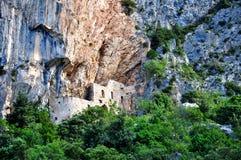Church. Old ruin of church in the Croatia stock photo