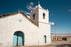 Church. Of Peine, a little town in the Salar de Atacama (Atacama Salt Lake), Atacama desert, Chile, South America Stock Image