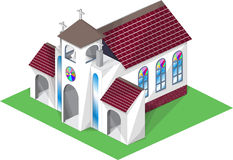 Church. An illustration of a church on white background Stock Photography